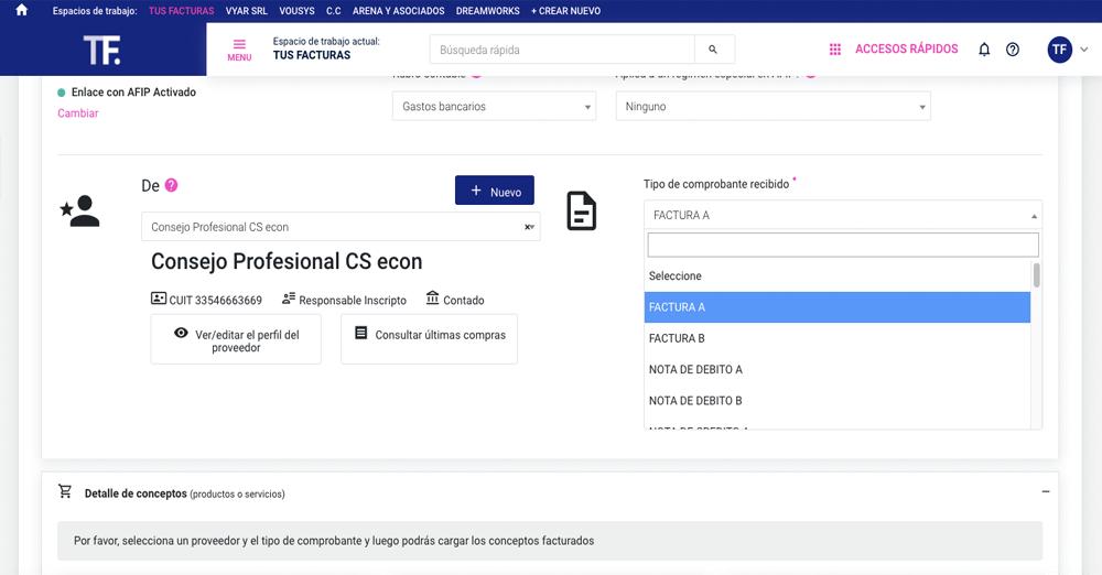 TusFacturas.app: Obtené los datos de tu producto y/o servicio automáticamente